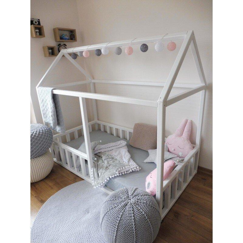 łóżko Domek Pod Materac 200x90 Białe